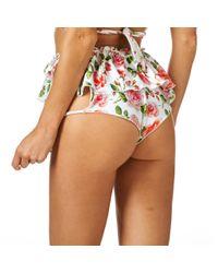 Montce Swim - Multicolor Rose Cabana Ruffle Short Bottom - Lyst