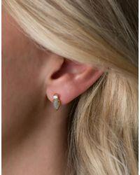 Rachael Ryen - Metallic Teardrop Stacked Stud - Labradorite - Lyst