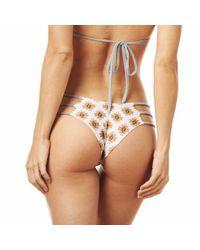 Montce Swim - Brown Shavali Aztec/grey Faux Suede Euro Strings Bikini Bottom - Lyst