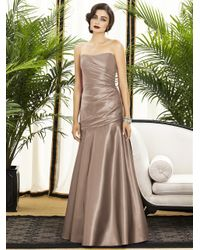 Dessy Collection - Brown Dress In Topaz - Lyst