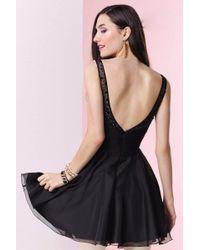 Alyce Paris - 4414 Short Dress In Black - Lyst