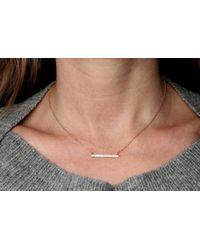 Rachael Ryen - Metallic K Gold Diamond Bar Necklace - Lyst