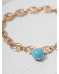 Helena Rohner - Multicolor Oval Link Bracelet With Stone Bead - Lyst