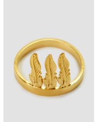 Alice Eden - Multicolor Feather Chief Ring - Lyst