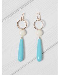 Helena Rohner | Multicolor Beads And Loop Drop Earrings | Lyst