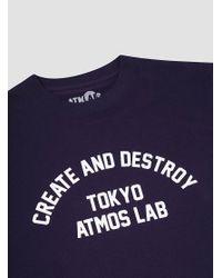 Atmos Lab - Blue C&d Tee Navy for Men - Lyst