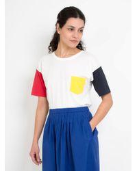 Thinking Mu | Blue Colours Sleeves T-shirt | Lyst