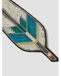 Macon & Lesquoy - Multicolor Feather Brooch - Lyst