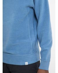 Norse Projects - Blue Ketel Solid Brushed Sweat for Men - Lyst