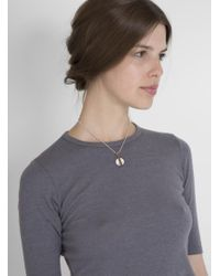 Open House   White Howlite Drop Necklace   Lyst