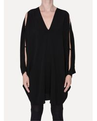 Lost & Found - Black Open Sleeve Tunic - Lyst