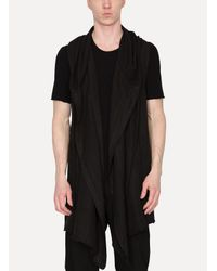 Lost and Found Rooms - Black Sleeveless Cardigan for Men - Lyst