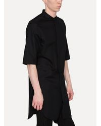 Thamanyah - Black Short Sleeve Long Shirt for Men - Lyst