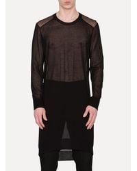 Ann Demeulemeester - Black Long Knit Cotton Sweater  for Men - Lyst