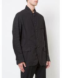 The Viridi-anne - Black Ramie Cotton Poplin Blazer for Men - Lyst