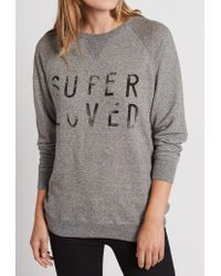 Current/Elliott | Gray The Oversized Sweatshirt | Lyst