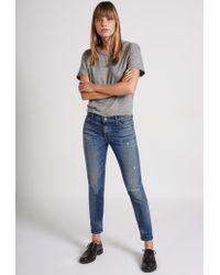 Current/Elliott | Blue The Selvedge Easy Stiletto Skinny Jean | Lyst
