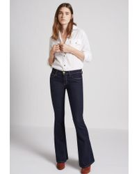 Current/Elliott | Blue The Low Bell Flare Jean | Lyst