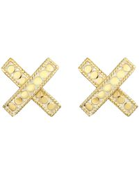 Anna Beck | Metallic Cross Post Earrings | Lyst