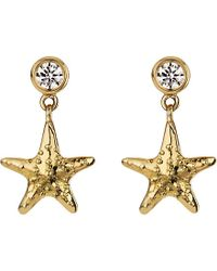 Theo Fennell | Metallic 18ct Yellow-gold And Diamond Starfish Earrings - For Women | Lyst