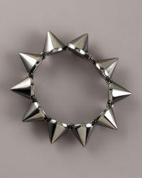 Eddie Borgo - Gray Large Gunmetal Cone Bracelet - Lyst