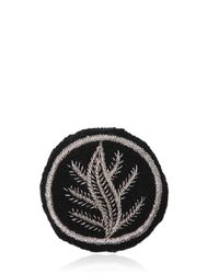Ann Demeulemeester | Black Large Embroidered Cotton Blend Pin | Lyst