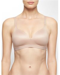 Calvin Klein | Brown Underwear Bare Shape Wirefree Bra | Lyst