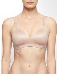 Calvin Klein | Brown Underwear Bare Shape Wirefree Bra | Lyst