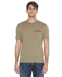 Stone Island - Green Cotton Jersey Back Print T-Shirt for Men - Lyst