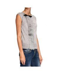 Class Roberto Cavalli | Gray Roberto Cavalli Women's Sweater | Lyst