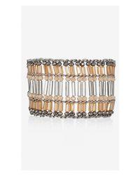 Express | Pink Woven Bugle Bead Cuff Bracelet | Lyst