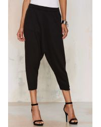 One Teaspoon | Black Turn Up The Hemp Trackies | Lyst