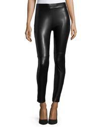 Wolford - Black Estella Faux-leather Leggings - Lyst
