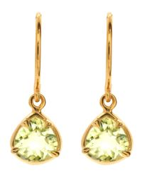 Dinny Hall | Green Gold Vermeil Lemon Quartz Trillion Sheba Drop Earrings | Lyst