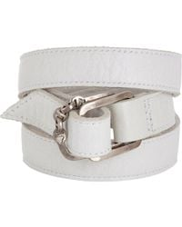 Hoorsenbuhs | White Leather Wrap Bracelet | Lyst