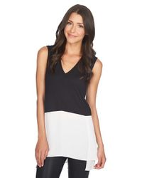1.STATE - Black Sleeveless Colorblock Tunic - Lyst