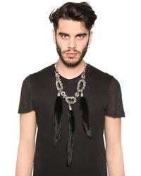 Tom Rebl - Metallic 3 Mink Tail Pendants Chain Necklace for Men - Lyst
