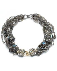 Alexis Bittar | Metallic Multi Strand Padlock Bib Necklace You Might Also Like | Lyst