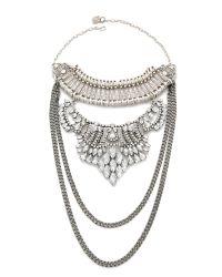 Laura Cantu - Metallic Briana Necklace - Silver/clear - Lyst