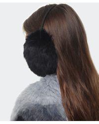 Yves Salomon | Black Rabbit Fur Ear Muffs | Lyst