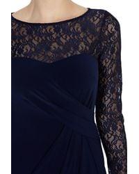 Coast - Blue Reeva Lace Maxi Dress - Lyst