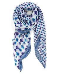 Echo - Blue 'flower Picking' Print Wrap - Lyst