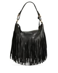 Frye | Black Heidi Leather Hobo Bag | Lyst