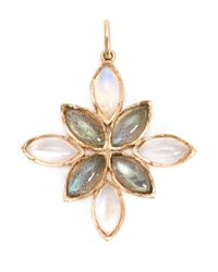 Irene Neuwirth | Metallic 18kt Rose Gold And Labradorite Pendant | Lyst