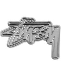 Stussy | Metallic Silver Stock Ho14 Pin | Lyst
