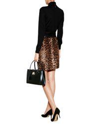 Ralph Lauren Black Label - Multicolor Leather Leopard Print Skirt - Animal Prints - Lyst