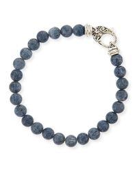 Stephen Webster | Blue Gray Coral Beaded Bracelet | Lyst