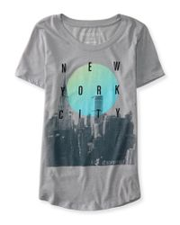 Aéropostale | Gray Nyc Skyline Graphic T | Lyst