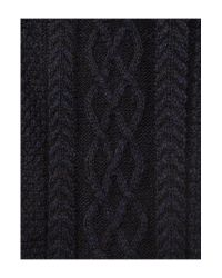 Howick | Blue Patterned Chunky Knit Scarf for Men | Lyst