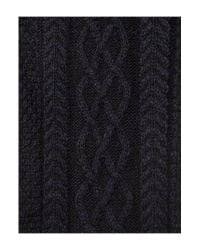 Howick - Blue Patterned Chunky Knit Scarf for Men - Lyst